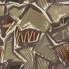 Abstract Camouflage Seamless Pattern Texture Military Repeats
