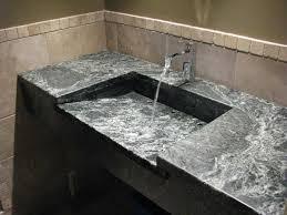 soapstone sinks transitional bathroom