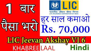 Jeevan Akshay Chart Earn Income After One Time Investment With Lic Jeevan Akshay