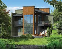 story bedroom plan sloped modern house plan pm perfect for your front sloping lot  beds