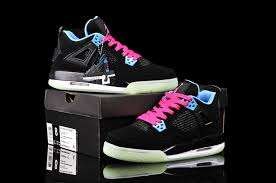 basketball shoes for girls jordans. womens air jordan 4 retro black blue pink basketball shoes for girls jordans