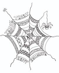 Small Picture FREE Halloween Adult Coloring Page Spider Web Spider Web
