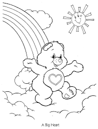 Small Picture Care Bears Coloring Pages Coloring Kids Coloring Home