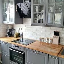 grey cabinets wood countertops kitchen cabinets modern white corner oven wood gray kitchen cabinets with wood