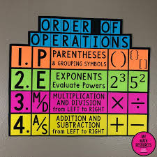 Order Of Operations Anchor Chart My Math Resources Pemdas Order Of Operations Poster