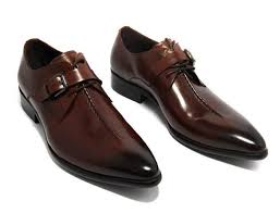 oxford shoes deep coffee color dark yellow black mens business dress shoes genuine leather pointed toe