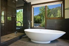 Modern Master Bath Colorado Decorative Materials