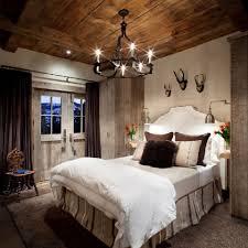 Romantic modern rustic bedroom.
