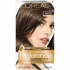 Loreal Light Brown Loreal Superior Preference Fade Defying Color 6a Light Ash Brown Cooler 1 Application
