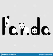 Graphic Designer Funny Panda Funny Abstract Quote Lettering With Panda Calligraphy