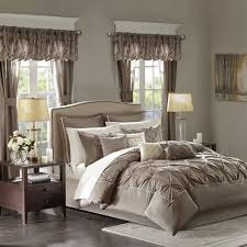 madison park essentials joella cal king size bed comforter set room in a bag taupe tufted wrinkled 24 pieces bedding sets faux silk bedroom