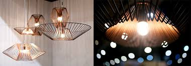 the design of joseph rastrullo the talented designer from the philippines has created a flexible design method using wire to dictate the hanging lamp size