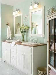diy bathroom decor pinterest. Bathroom With Furniture-style Double Vanity And Great Colors - Love The Vintage Character! Diy Decor Pinterest N