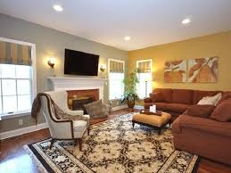 Traditional Carpet With Brown L Shaped Sectional Sofa For Modern