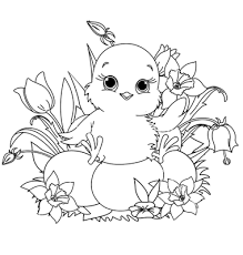 Small Picture 27 Cute Easter Chick Coloring Pages Animals Celebrations