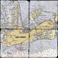 Florida Key West Nautical Chart Decor