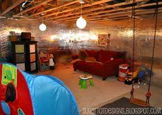 unfinished basement lighting ideas. cute idea for an unfinished basement definitely need a swing down therehate the walls but like some of decor lighting ideas d