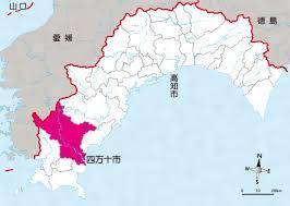 高知県四万十市の位置