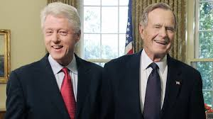 Bill Clinton, George H.W. Bush catch up about 'old times' -- and socks -  CNNPolitics