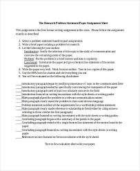 Research Problem Statement 33 Statement Examples In Word