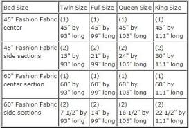 Textile Repeat Size Chart Directions And Measurements To Sew A Duvet Cover
