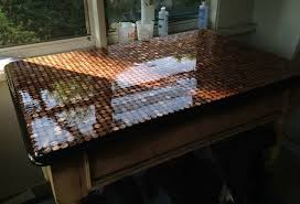 how to make a penny top coffee table 01