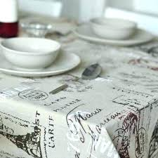 modern style building print cotton linen table cloth suitable for washing machines bedside tables small round