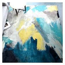 watercolor area rug. Watercolor Area Rug West Elm Expressionist Printed Blue Teal Floral .