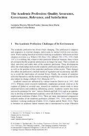 the academic profession quality assurance governance relevance the academic profession in europe new tasks and new challenges