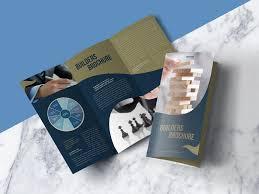 Free Download Brochure Free Modern Premium Tri Fold Brochure Mock Up Psd File