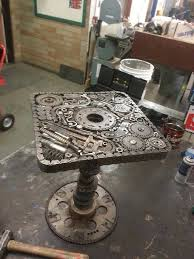 Steampunk table by Javos Ironworks