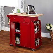 Rolling Kitchen Cabinet Red Rolling Kitchen Cart Cliff Kitchen