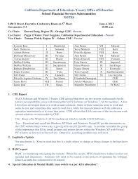 California Department of Education / County Office of Education School  Financial Services Subcommittee NOTES