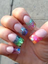 best 25 colored acrylic nails ideas on