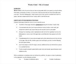 Examples Of Essays Format Works Cited Example Documentation Style