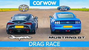 Toyota Supra v <b>Ford Mustang</b> V8 – DRAG RACE, ROLLING RACE ...