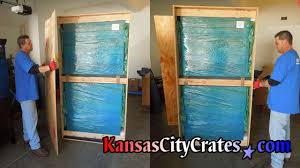 packing crate furniture. Two Views Of Antique Furniture Fully Wrapped And Packed Inside Vault Like Crate. Packing Crate