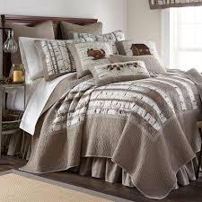 birch forest rustic lodge quilt bedding