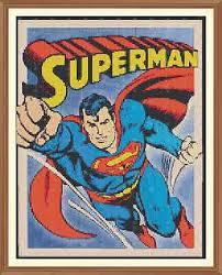 Superman 2 Cross Stitch Chart 12 0 X 9 4inches 5 49