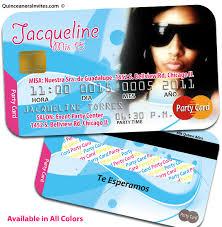 Credit Card Party Invitations Credit Card Quinceanera Invitations