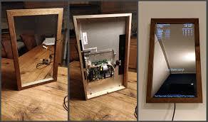 diy magic mirror project two way plexiglass mirror flatscreen tv pcb raspi 3