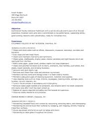 Sample Resume For Janitor Updated Resume For Janitor Unique School