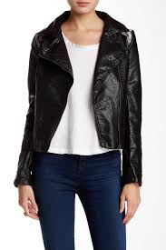 bale faux leather jacket with faux fur collar 65 40