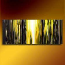 old gold 60 abstract art deco trees original painting acrylic triptych 3 canvases
