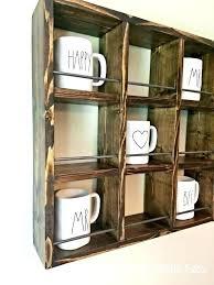 mug rack wall mounted argos vertical expanding beechwood coffee