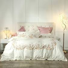 cream grey princess style bedding set queen king size bed pink purple duvet cover sheet full comforters sets