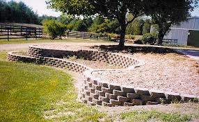 stacked stone walls landscaping photo 2
