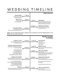 Wedding Party Itinerary Template Magdalene Project Org