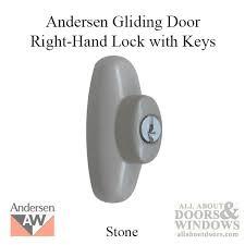andersen right hand exterior tribeca lock with keys for frenchwood sliding door stone