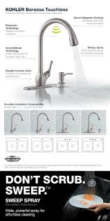Kohler Barossa Kitchen Faucet Kohler Barossa With Response Touchless Technology Single Handle